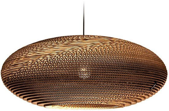 think paper Hängeleuchte »Jazzy 640«, einzigartiges Design, Handarbeit Lampe, LED Deckenleuchte, Unikat aus Wellpappe E27, Hängeleuchte aus Papier