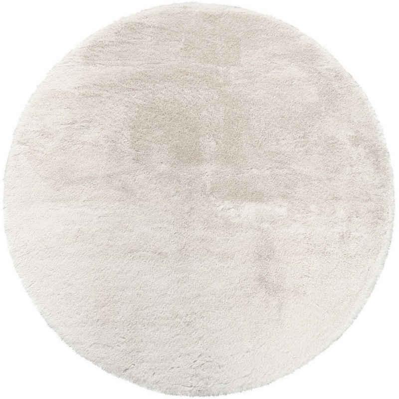Teppich »Soft 380«, Paco Home, rund, Höhe 22 mm, Kuschelteppich - besonders weich, Uni-Farben, Wohnzimmer