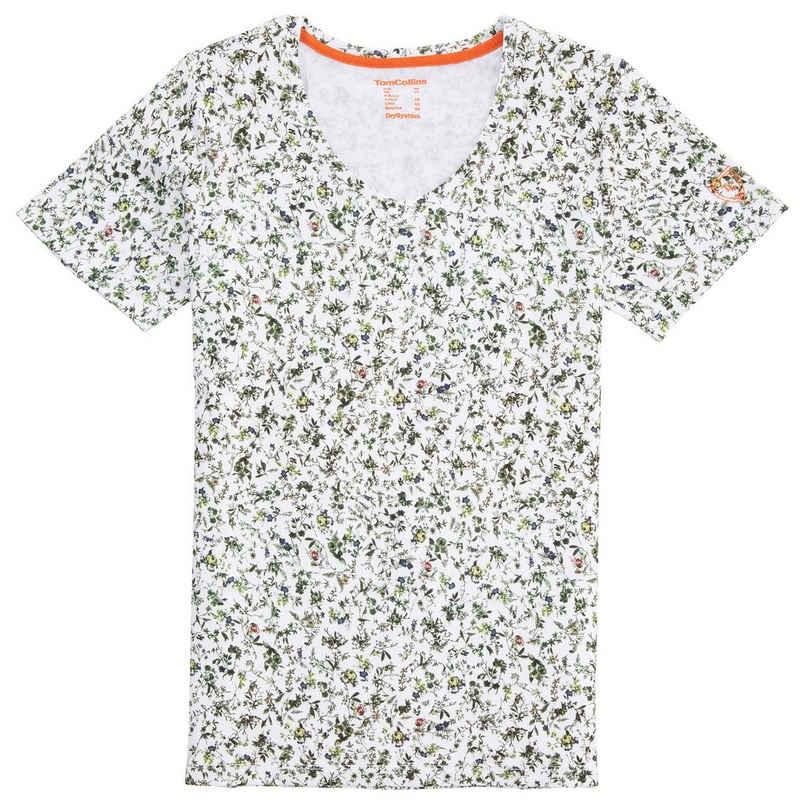 Tom Collins Trachtenshirt Damen, mit floralem Dessin