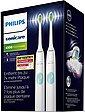 Philips Sonicare Elektrische Zahnbürste HX6807/35, Aufsteckbürsten: 2 St., 2er-Set, ProtectiveClean 4300 Schallzahnbürste mit Clean-Putzprogramm inkl. 2 Reiseetuis & Ladegerät, Bild 8
