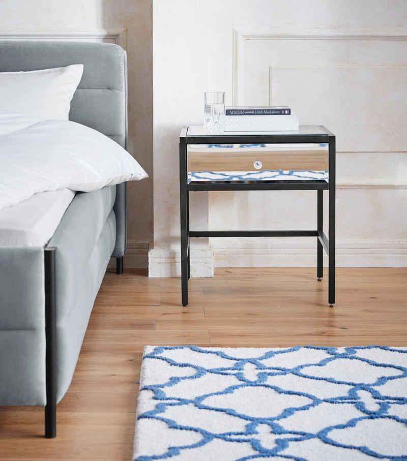 Guido Maria Kretschmer Home&Living Nachttisch »Hivero«, 2 cm starke Tischplatte, verspiegelt, Pflegeleicht, Breite 50 cm