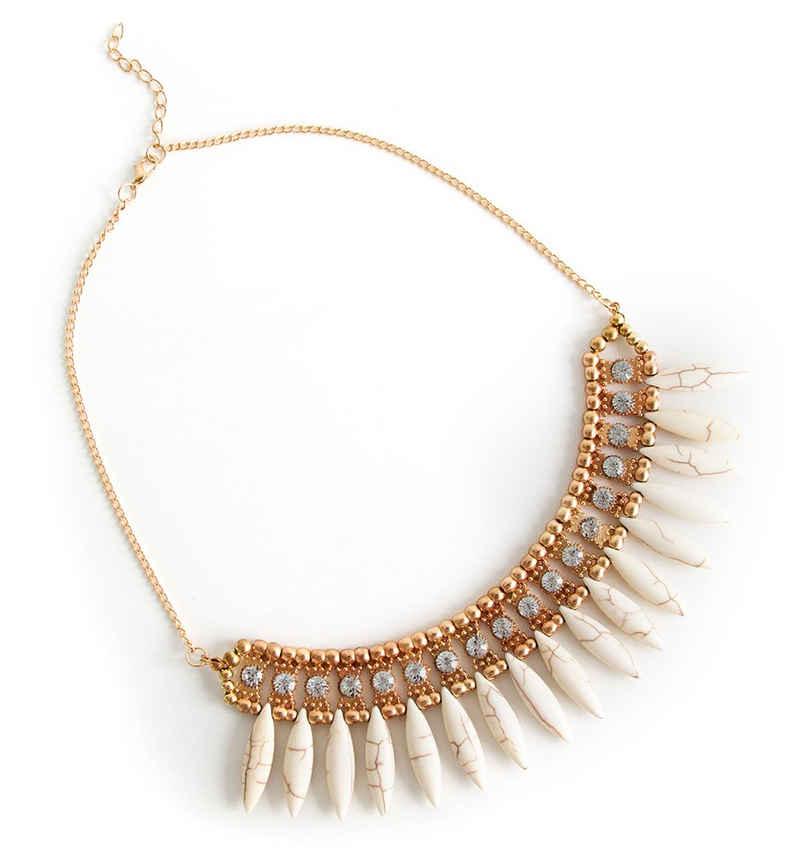 MyBeautyworld24 Statementkette »Modische Statement Halskette Damenkette in Softbeige«