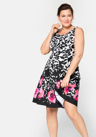 Sheego Kokteilinė suknelė su gėlėtas Alloverd...