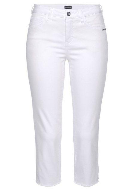 Hosen - Bruno Banani 3 4 Jeans Mit Fransensaum ›  - Onlineshop OTTO