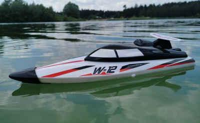 BruKa RC-Boot »RC 2,4 Ghz. Speedboot TIGER SHARK W-12 ferngesteuertes Schiff Boot Rennboot RTR«