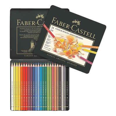 Faber-Castell Buntstift »Polychromos«, (24-tlg), lichtbeständig, wisch- und wasserfest