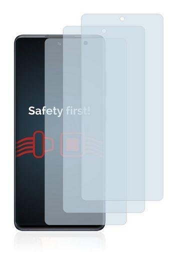 Savvies Schutzfolie »Panzerglas für Samsung Galaxy S20 FE«, (3 Stück), Schutzglas Echtglas 9H klar