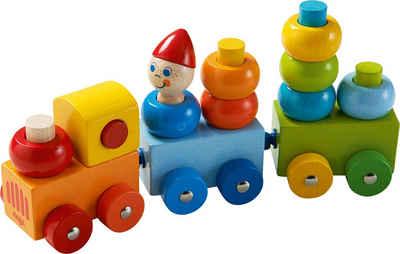 Haba Spielzeug-Eisenbahn »Entdeckerzug Farbkringel«, aus Holz; Made in Germany
