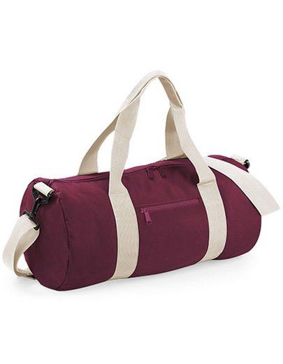 BagBase Sporttasche »Reisetasche Barrel Bag medium«, Gewebte Tragegriffe