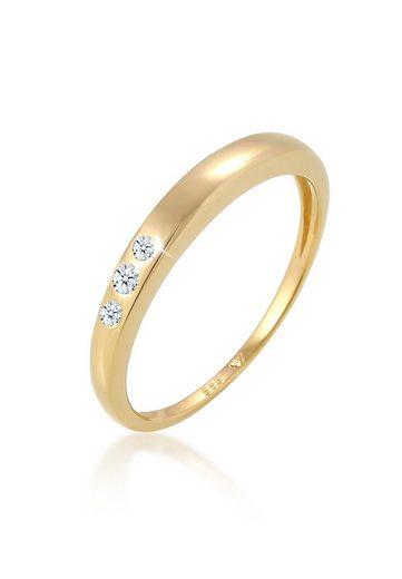 Diamore Diamantring »Verlobung Trio Diamant (0.06 ct) 585 Gelbgold«