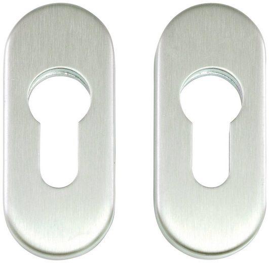 Türbeschlag »Ovalrosetten«, LxB: 73x33 mm, 1 Paar