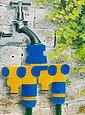 dynamic24 4-Wege Verteiler, 4-fach Verteiler Schlauchanschluss Anschluss Wasseranschluss für Gartenschlauch, Bild 2