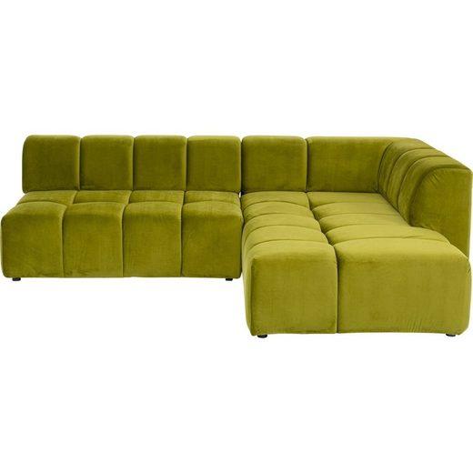 KARE Sofa »Ecksofa Belami Grün Rechts«