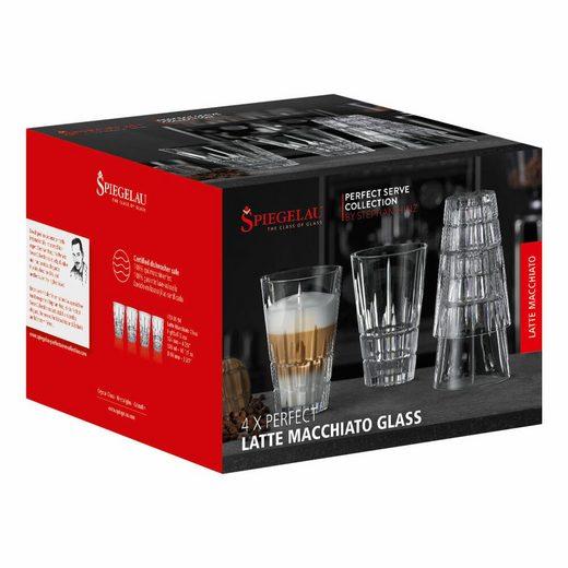 SPIEGELAU Latte-Macchiato-Glas »Perfect Serve Collection Perfect 4er Set«, Kristallglas