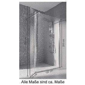 Duschen und Zubehör - welltime Walk in Dusche »Mailand«, Einscheibensicherheitsglas, Breite 120 cm, Duschabtrennung  - Onlineshop OTTO