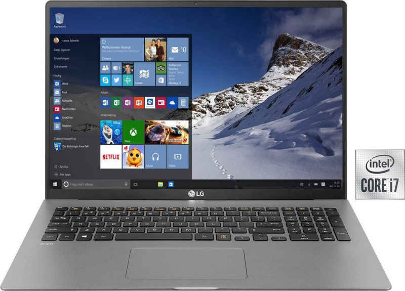 LG gram 17, Ultraleichtes Notebook (43,18 cm/17 Zoll, Intel Core i7 1065G7, Iris Plus Graphics, 1000 GB SSD, 16 GB DDR4-RAM)