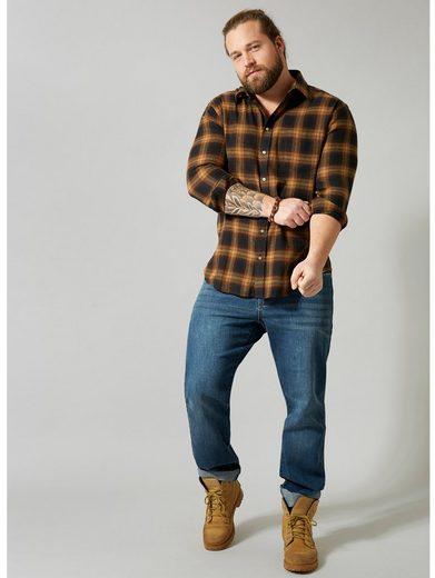 Men Plus by Happy Size Flanellhemd aus reiner Baumwolle