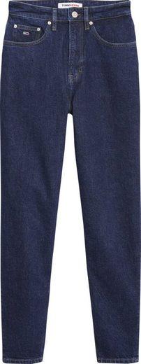 TOMMY JEANS Mom-Jeans »MOM JEAN HR TPRD CNDBCF« mit leichten Fadeout-Effekten & Tommy Jeans Logo-Flag
