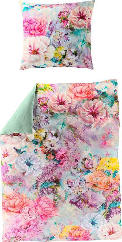 Wendebettwäsche »Colorful Flowers«, BIERBAUM, mit floralem Digitalprint