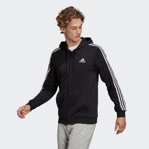 adidas Performance Hoodie »Essentials French Terry 3-Streifen Kapuzenjacke«