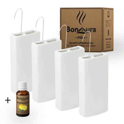 BonAura Luftbefeuchter Heizung PILLAR, 0,35 l Wassertank, Inklusive Citrus Aromaöl