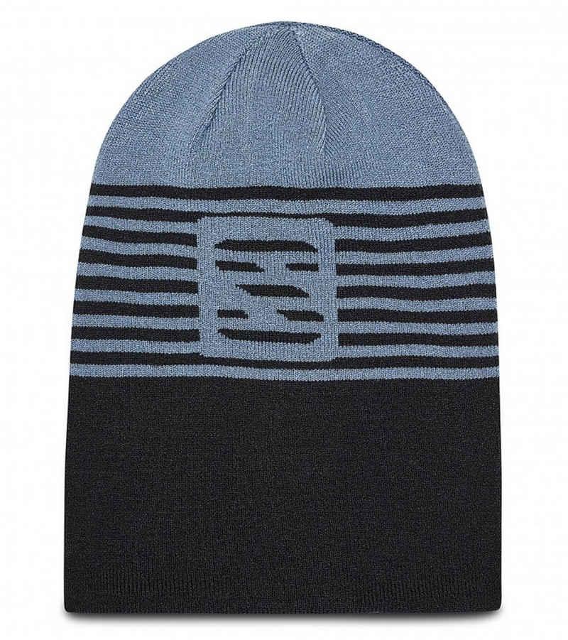 Salomon Beanie »Salomon Flatspin Reversible Beanie bequeme Strick-Mütze zum Wenden Woll-Mütze Blau/Grau«