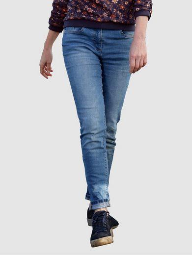 Dress In 5-Pocket-Jeans mit Knopf zum Verschließen