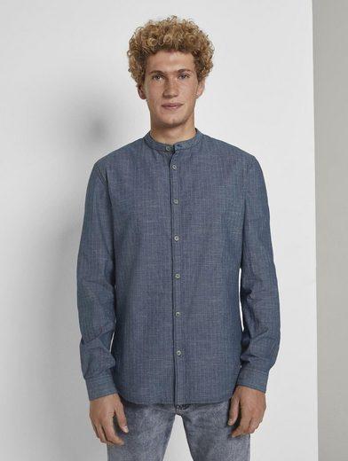 TOM TAILOR Denim Langarmhemd »Hemd mit dezenter Struktur«