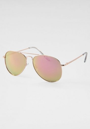 J.Jayz Sonnenbrille Aviator Look, Gläser verspiegelt