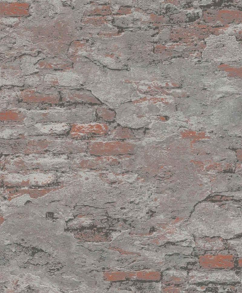 Rasch Strukturtapete »#Tapetenwechsel«, aufgeschäumt, gemustert, Steinoptik, (1 St)
