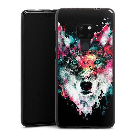 DeinDesign Handyhülle »Wolve ohne Hintergrund« Huawei Mate 20, Hülle Riza Peker Wolf bunt