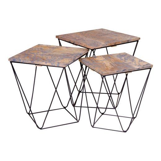 ebuy24 Couchtisch »Rano Beistelltisch Set mit 3 Tischen in grau mit S«