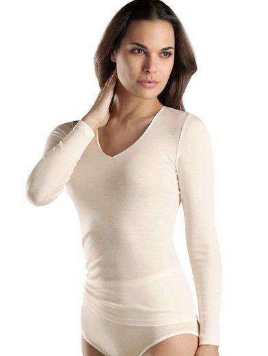 Hanro Unterziehshirt »Shirt langarm, V-Ausschnitt«