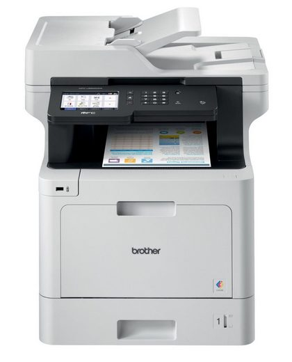 Brother WLAN 4-in-1 Farblaser-Mulitfunktionsdrucker Farblaserdrucker, (LAN (Ethernet), WLAN (Wi-Fi), NFC)