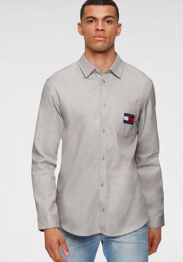 Tommy Jeans Langarmhemd »TJM BADGE TENCEL TWILL SHIRT«