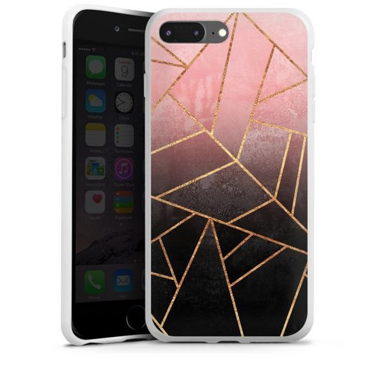 DeinDesign Handyhülle »Pink And Black Stone« Apple iPhone 7 Plus, Hülle Farbverlauf Geometric Gold