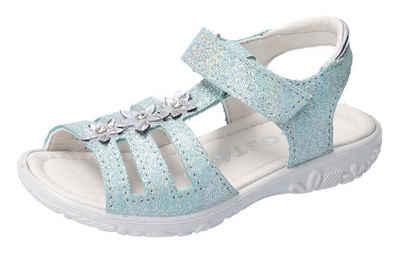 Ricosta »CLEO WMS Weiten Messsystem: mittel« Sandale mit glänzenden Blüten besetzt