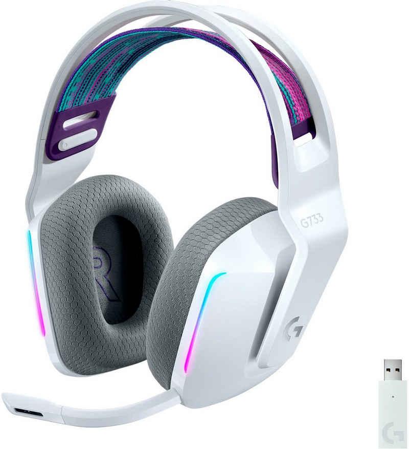 Logitech G »G733 LIGHTSPEED Wireless RGB« Gaming-Headset (Mikrofon abnehmbar, WLAN (WiFi)