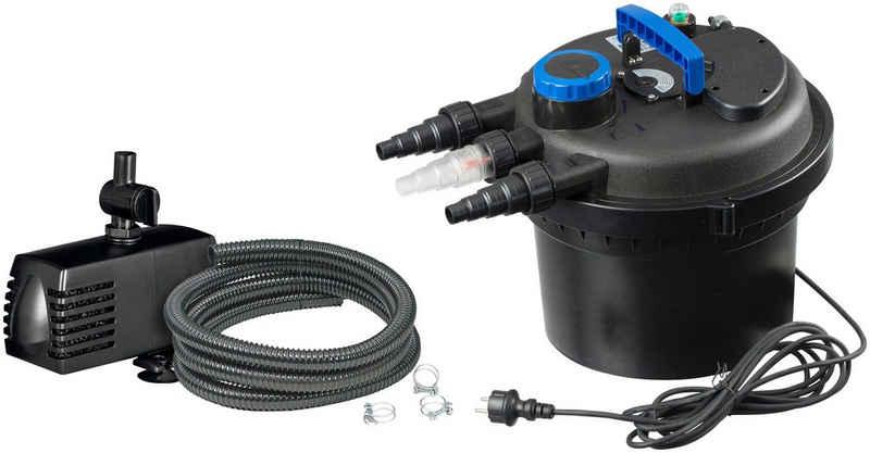 Ubbink Teichfilter »Druckfilter BioPressure II 3000 Plus« (Set), 3.000 l/h, inkl. UV-C Gerät und Teichpumpe