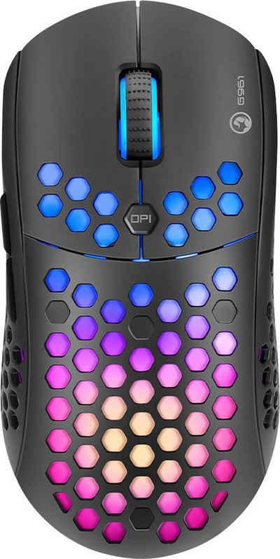 MARVO »M399« Gaming-Maus (kabelgebunden, USB, 6400 dpi, 6 Tasten, RGB-Beleuchtung)