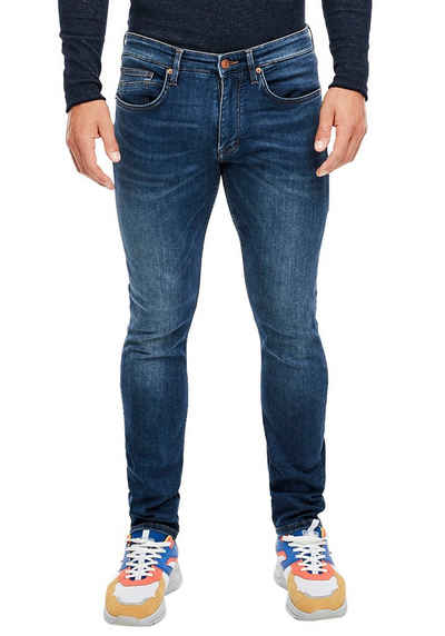 Q/S by s.Oliver 5-Pocket-Jeans in authentischer Used-Optik