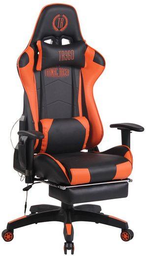 CLP Gaming Chair »Turbo XFM Kunstleder«, mit Massagefunktion und ausziehbarer Fußablage