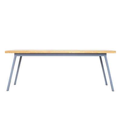 JOHANENLIES Esstisch »Upcycling Tisch VALKENBURG OAK«, Recyceltes Eichenholz und Stahl in Taubenblau. In Handarbeit gefertigt.