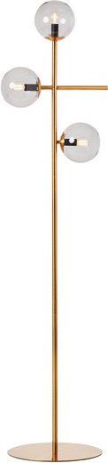 Guido Maria Kretschmer Home&Living Stehlampe »Arlberg«, bronzefarben, Rauchglas, E14, H: 165,5cm