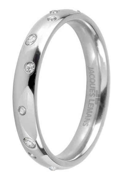 Jacques Lemans Fingerring »S-R61A52,54,56,58«, mit Kristallstein