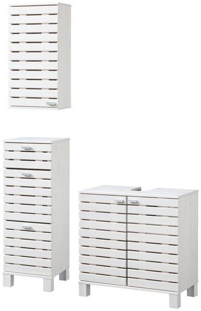 Badezimmer Sets - KONIFERA Badmöbel Set »Amrum«, Landhaus, 3 tlg.  - Onlineshop OTTO