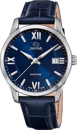 Jaguar Chronograph »UJ883/2 Jaguar Herren Armbanduhr ACM«, (Analoguhr), Herrenuhr rund, groß (ca. 40mm), Edelstahl, Lederarmband, Sport-Style