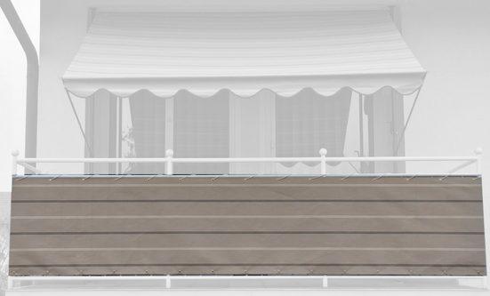 Angerer Freizeitmöbel Balkonsichtschutz Meterware, beige, H: 75 cm