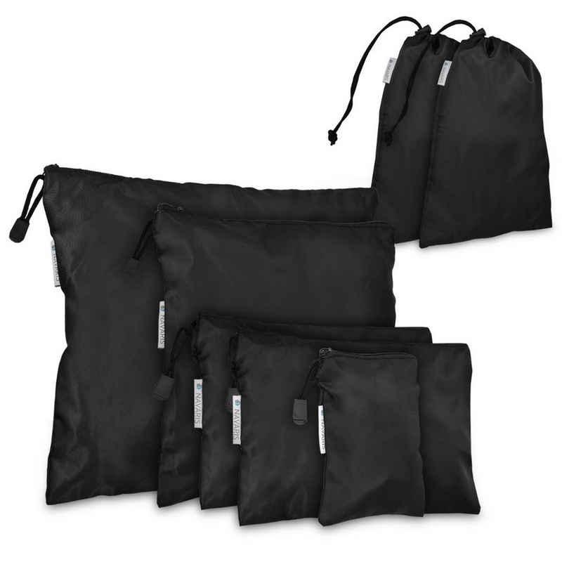 Navaris Kofferorganizer, 7-teiliges Koffer Packbeutel Set - Schuhbeutel Wäschebeutel Packtaschen - Rucksack Organizer Beutel - Stausack Reisebeutel