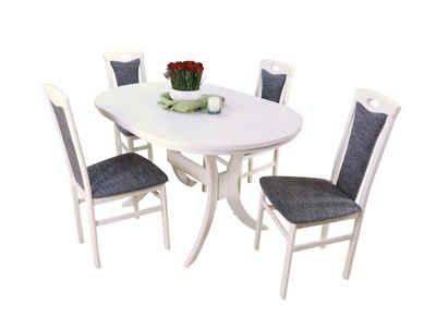 moebel-direkt-online Essgruppe »Bella«, (Spar-Set, 5-tlg., Auszugs-Esstisch mit 4 Stühlen), Esstisch mit 4 Stühlen